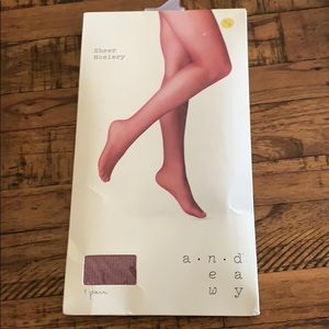 3/$10 NEW cranberry sheer hosiery S/M